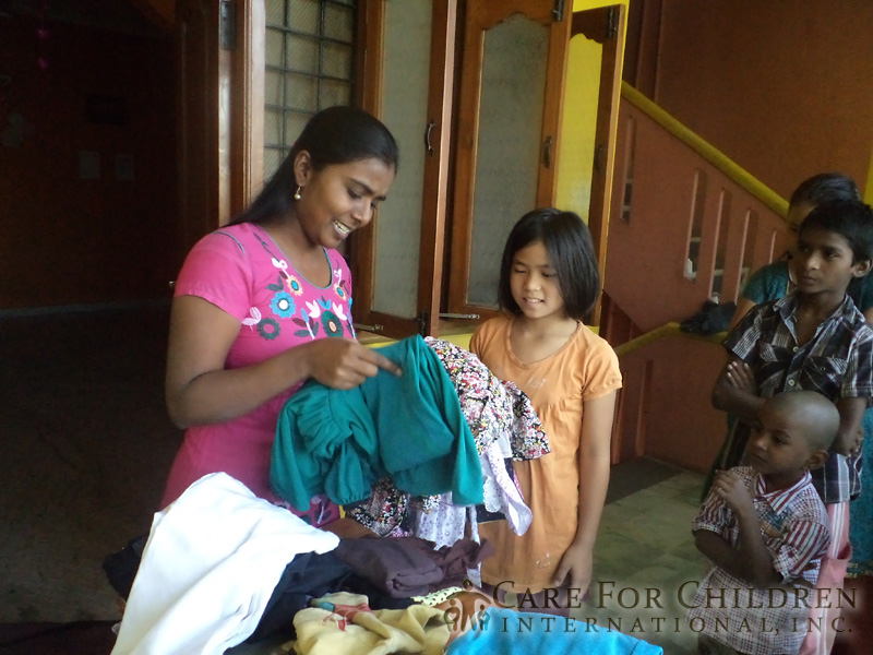 Children In India Are Excited To Receive Their New ClothesFrom-Care-For-Children-International inc 217