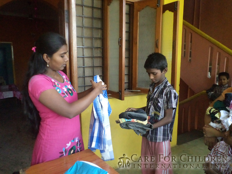 Children In India Are Excited To Receive Their New ClothesFrom-Care-For-Children-International inc 219